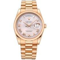 Rolex Day Date, Ref. 118205 - rosa römisch Zifferblatt/Präside...