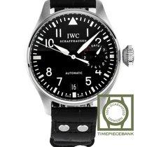 IWC Big Pilot Staal 46mm Zwart Arabisch