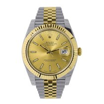 Rolex Datejust Gold/Steel 36mm Champagne Arabic numerals United States of America, New York, New York