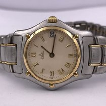 Ebel 1911 pre-owned 26mm Champagne Leather