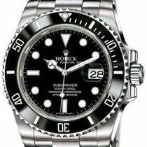 Rolex Submariner Date подержанные 40mm Чёрный Дата Сталь