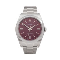 Rolex Oyster Perpetual 39 Steel 39mm Red United Kingdom, Bishop's Stortford