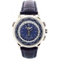 Patek Philippe World Time Chronograph Witgoud 39.5mm Blauw