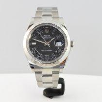Rolex Datejust II подержанные 41mm Cерый Дата Сталь