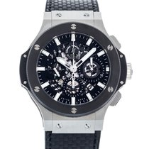 Hublot Big Bang Aero Bang pre-owned 44mm Transparent Date Rubber