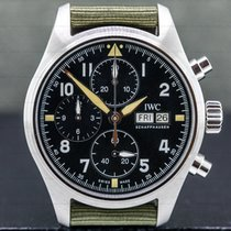 IWC Pilot Spitfire Chronograph Steel 41mm Black Arabic numerals