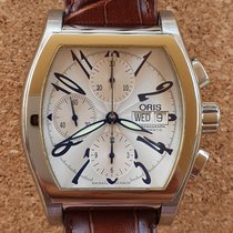 Oris Steel Automatic Silver Arabic numerals pre-owned Miles Tonneau