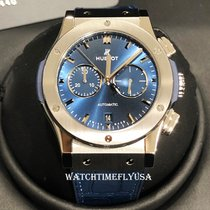 Hublot Classic Fusion Chronograph Titanium 42mm Blue No numerals United States of America, New York, NEW YORK