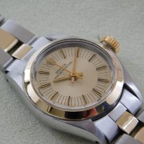 Rolex Oyster Perpetual 26 Gold/Stahl 25mm Gold