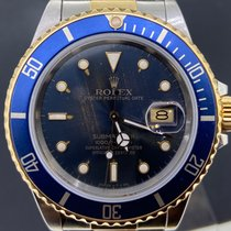 Rolex Submariner Date occasion 40mm Bleu Date Or/Acier