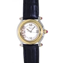 Chopard Happy Sport Yellow Gold Steel Leather 26mm