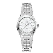 TAG Heuer Link Quartz Stainless Steel Mother-Of-Pearl Dial...