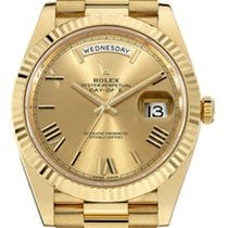 Rolex Day-Date 40 Yellow gold 40mm Gold Roman numerals United States of America, California, Newport Beach, Orange County