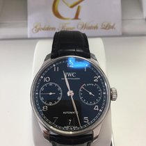 萬國 IW500703 Portuguese Stainless Steel Black Automatic