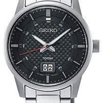 Seiko SUR269P1 SEIKO SPORT Quarzo Acciaio Nero Data 40,8mm новые