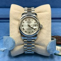 Rolex Platinum Automatic Blue 26mm pre-owned Lady-Datejust