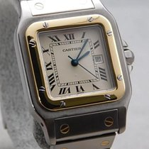 Cartier Santos (submodel) pre-owned 29mm White Date