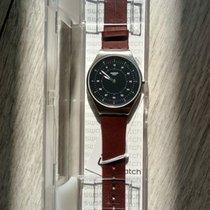 Swatch Steel Quartz Black Arabic numerals 38mm new