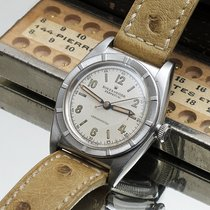 Rolex Bubble Back Steel 32mm Silver Arabic numerals
