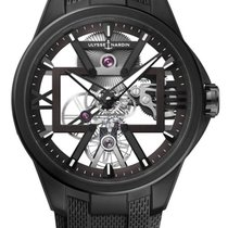 Ulysse Nardin new Manual winding Skeletonized Luminous hands 42mm Titanium Sapphire crystal