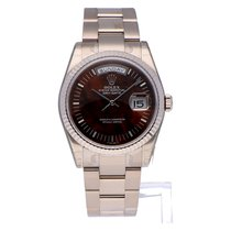 Rolex Day-Date 36 White gold 36mm Silver