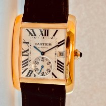 Cartier Tank MC Rose gold Silver Roman numerals United States of America, New York, NEW YORK