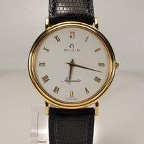Milus 14 Kt Gold Classic Ultra Slim Dresswatch 35mm