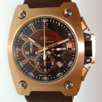 Wyler Code R Pink Gold brown dial