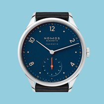 NOMOS Minimatik Steel 35,5mm Blue Arabic numerals