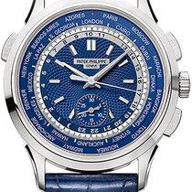 Patek Philippe World Time Chronograph White gold Blue United States of America, New York, Brooklyn