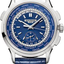 Patek Philippe World Time Chronograph White gold Blue United States of America, New York, Brooklyn