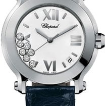 Chopard Happy 36mm White Dial With Diamonds