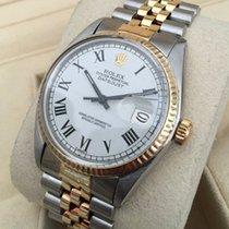 Rolex Oyster Datejust Jubilee Gold Steel White Roman Dial 36 mm