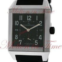 Jaeger-LeCoultre Steel Automatic Black Arabic numerals 35mm new Reverso Squadra Hometime