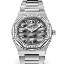 芝柏 80189D11A231-11A Girard Perregaux Dial Grigio Strap Acciaio 鋼 Laureato 34mm 新的