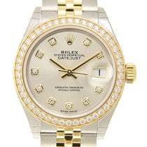 勞力士 (Rolex) Lady Datejust 18k Gold Diamond Steel Silver...