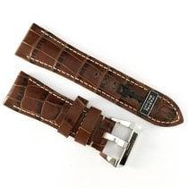 Panerai 26 / 22mm dark brown alligator leather strap with Pin...
