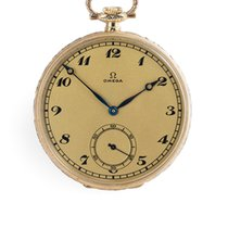 Omega OK1042 Vintage Pocket Watch - 14ct Frosted Dial