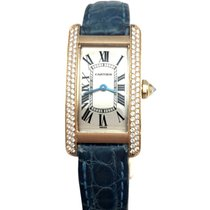 Cartier Tank Américaine Yellow gold 34mm Champagne Roman numerals