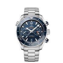 Omega Seamaster Planet Ocean Chronograph Acero 45.5mm Azul Árabes