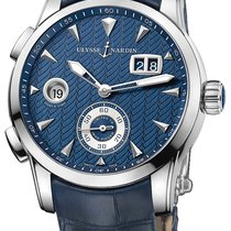 Ulysse Nardin Dual Time Steel 42mm Blue