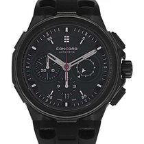 Concord C2 Chronograph Black PVD Coated Stainless Steel...