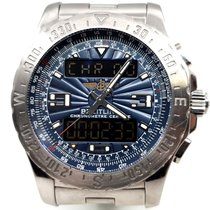 Breitling Airwolf Prof Chronograph Super-Quartz Pilot Steel -...