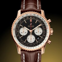 Breitling Red gold Automatic Black No numerals 43mm new Navitimer 1 B01 Chronograph 43