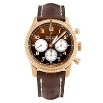 Breitling Red gold Automatic Bronze 43mm new Navitimer 8