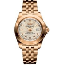 Breitling Rose gold Quartz Mother of pearl 32mm new Galactic