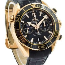 Omega Seamaster Planet Ocean Chronograph Oro rojo 46mm Negro