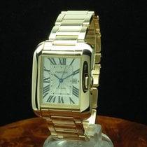 Cartier Automatik Silber 29.8mm gebraucht Tank Anglaise