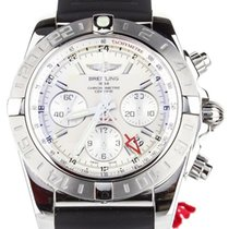 Breitling Chronomat 44 GMT Steel 44mm White United States of America, Illinois, BUFFALO GROVE