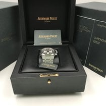 Audemars Piguet Royal Oak Chronograph Сталь 41mm Чёрный Без цифр